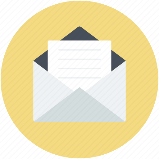 email, inbox, letter envelope, mail, sent email icon