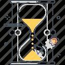 timing, management, clock, timer, sand, deadline, time icon