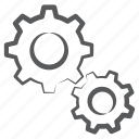 cog wheel, configuration, gears, management, option, repair, setting