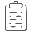 clipboard document, clipboard paper, exam, notes, test, worksheet