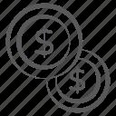 cash, dollar coins, earnings, econom, finance, money