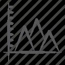 business chart, data chart, infographic, mountain chart, mountain graph, statistics