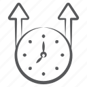 timer, timekeeper, timepiece, time flow, electric clock, time passing icon