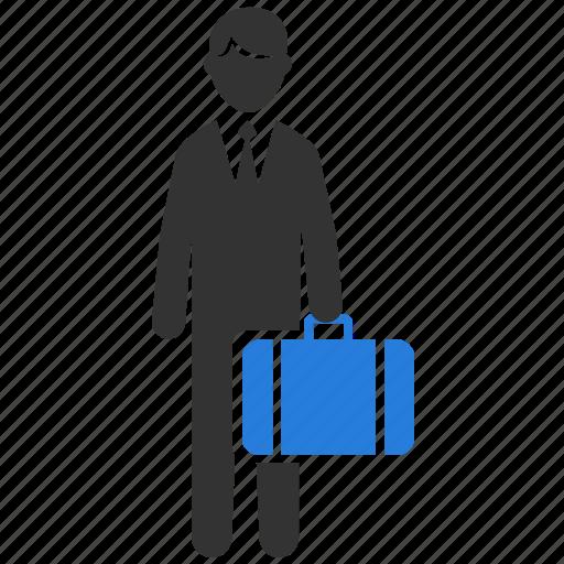 business, businessman, dealer, officeman, salaryman, saleman, trader icon