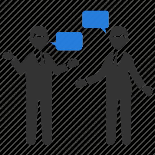 chat, consult, consultation, debate, discuss, negotiation, talk icon