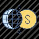 gobal, business, finance, money, cash, marketing icon