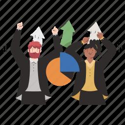business, team, spirit, work, increase, graph, statistics