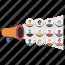 business, marketing, target, audience, megaphone, ad, advertisement