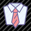 suit, necktie, business, tie, shirt, wear