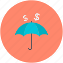 insurance, money protection, money safety, safe banking, umbrella icon
