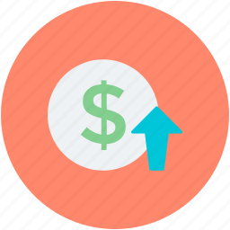 currency value, dollar rate, dollar value, foreign exchange, profit icon