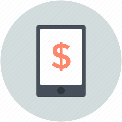 m commerce, mobile commerce, online business, online money, online work icon