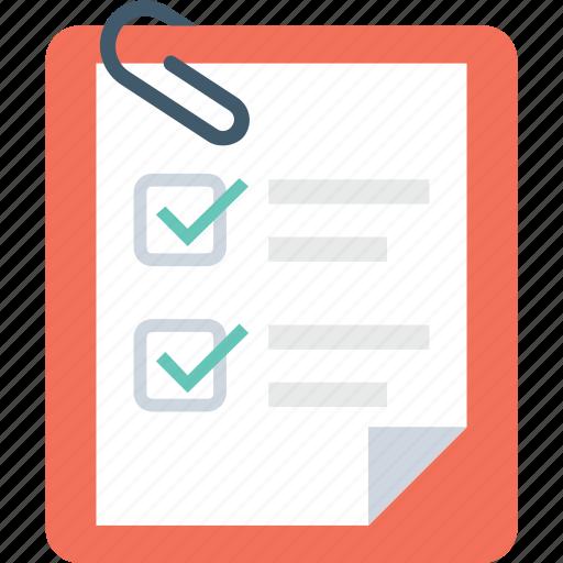 attachment, checklist, task, tick, to do icon