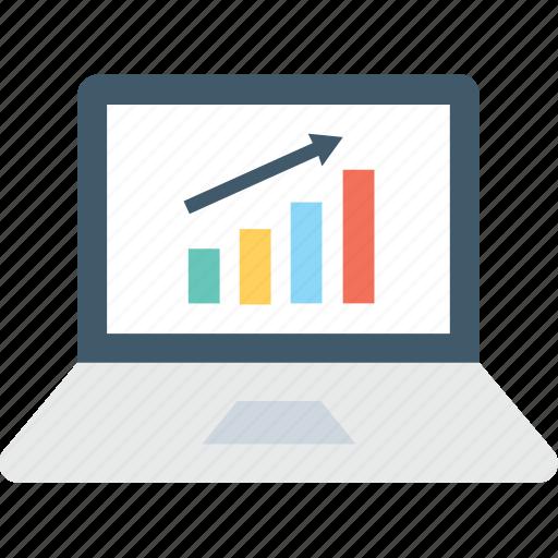 analytics, bar chart, bar graph, infographics, online graph icon