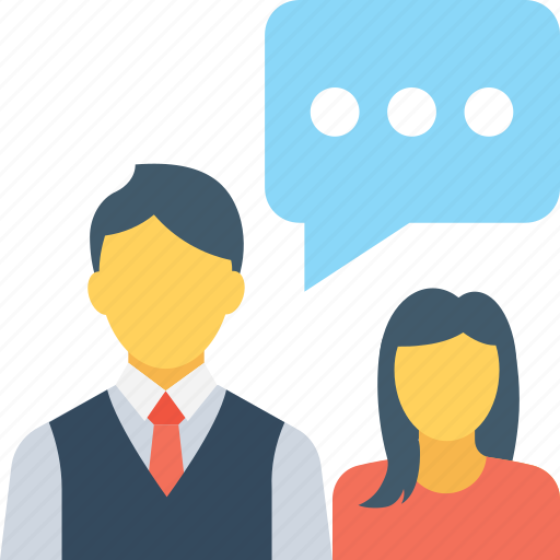 chat bubble, colleagues, communication, speaking, talking icon