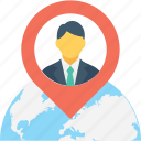 map pin, navigation, location, location access, gps icon