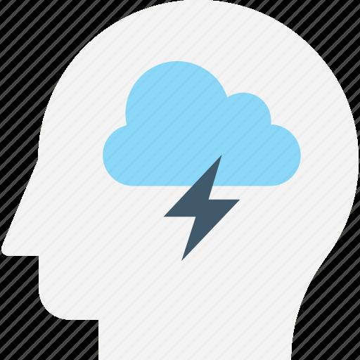 brain, brainstorming, head, intelligence, thinking icon