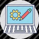 information technology, programming, seo, software development, web development icon