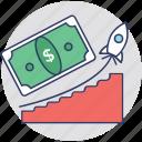 business return, financial benefit, income, profit, revenue icon