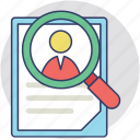 employee search, looking for a talent, personal search, recruitment, talent search icon