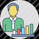 business analyst, finance analyst, data scientist, data analyst, strategic planning icon