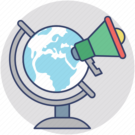 global advertising, global economy, global marketing, international marketing, online marketing icon