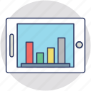 analytics, bar chart, geographic information, bar graph, bar diagram icon