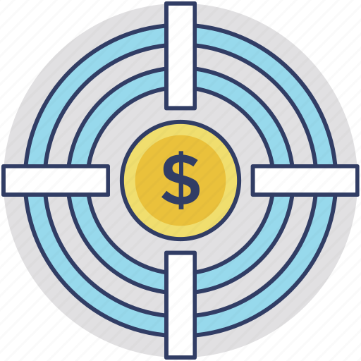 business development, business goal, business target, financial goal, sales target icon