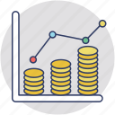 business return, financial benefit, income, profit, revenue icon