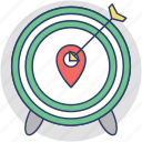 destination, geo targeting, location tracking, target center, target location icon