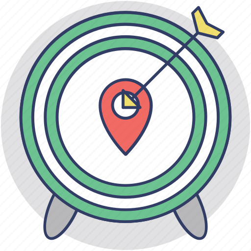 destination, geo targeting, location tracking, target center, target location icon