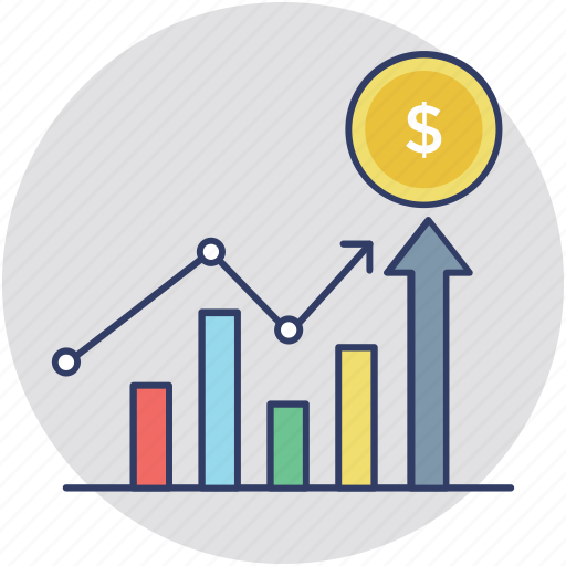 business analysis, business chart, business growth, financial profit, money growth icon