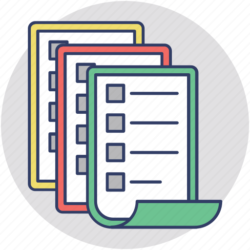 business paperwork, data files, documentation, files, paperwork icon