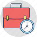 business portfolio, documents bag, office bag, portfolio bag icon
