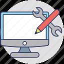 software development, application development, product development, web design, web development icon