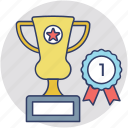 first position, number 1, 1st place, first rank, winner cup icon