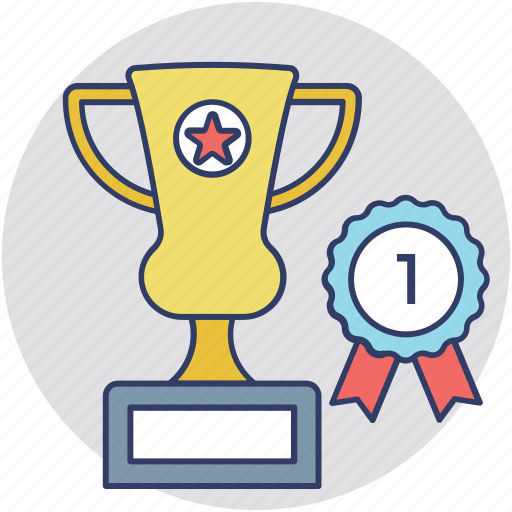 1st place, first position, first rank, number 1, winner cup icon