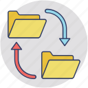 data exchange, data export, data sharing, data transfer, information exchange icon