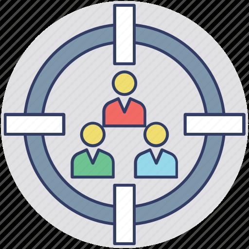 crm, focus group, target customer, target people, team building icon