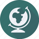 business, earth, finance, financial, globe, profit, statistics icon