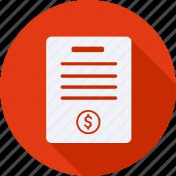 business, finance, financial, invoice, profit, statistics icon