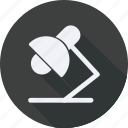 business, desk, finance, financial, lamp, profit, statistics icon
