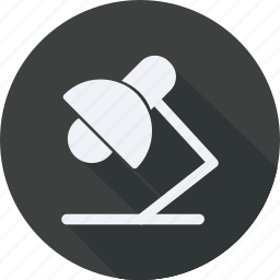 business, desk, finance, financial, lamp, profit, statistics icon