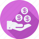 business, finance, financial, get, money, profit, statistics icon