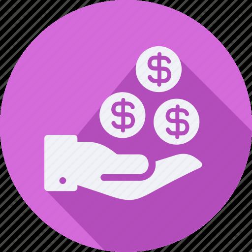 business, finance, financial, get, money, profit, statistics icon