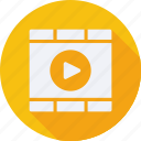 business, finance, financial, player, profit, statistics, video icon