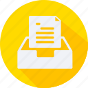 business, finance, financial, inbox, profit, statistics icon