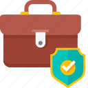 bag, briefcase, business, finance, protection, security icon