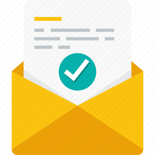 chat, check, communication, email, envelope, mail, message icon