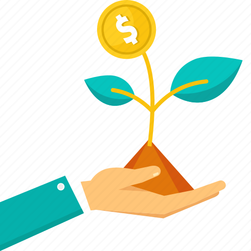 business, financial, grow, growth, plant icon